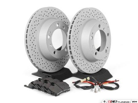 ES#2594725 - 98661236500RPKT - Performance Rear Brake Service Kit - Featuring Zimmerman Z-Coated rotors and Hawk HPS brake pads - Assembled By ECS - Porsche
