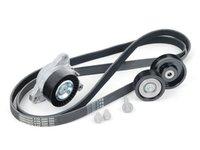 ES#2718492 - 2722000270KT4 -  Accessory Belt Kit - Includes belt tensioner, all pulleys, belt, and hardware - Assembled By ECS - Mercedes Benz
