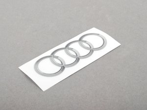 ES#459813 - 8R0060306 - Audi Rings Sticker - Priced Each - 95mmx56mm sticker that can be placed anywhere - Genuine Volkswagen Audi - Audi