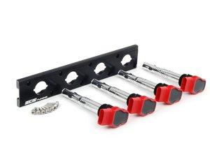 ES#2713399 - 002598ECS09KT - 2.0T Coil Pack Conversion Kit - Stage 1 - Includes anodized black conversion plate -w- red 2.0T coils - ECS - Audi Volkswagen