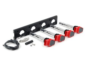 ES#2713430 - 002598ECS09AKT - 2.0T Coil Pack Conversion Kit - Stage 1 - Includes anodized black conversion plate -w- red 2.0T coils - Assembled By ECS - Audi Volkswagen