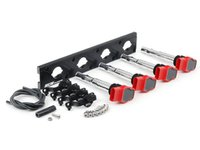 ES#2713435 - 002598ECS10AKT - 2.0T Coil Pack Conversion Kit - Stage 2 - Includes anodized black conversion plate -w- red 2.0T coils and black hold down kit - Assembled By ECS - Audi Volkswagen