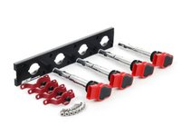 ES#2713402 - 002598ECS11KT - 2.0T Coil Pack Conversion Kit - Stage 2 - Includes anodized black conversion plate -w- red 2.0T coils and red hold down kit - ECS - Audi Volkswagen