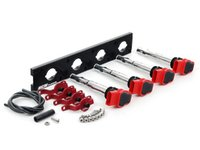 ES#2713436 - 002598ECS11AKT - 2.0T Coil Pack Conversion Kit - Stage 2 - Includes anodized black conversion plate -w- red 2.0T coils and red hold down kit - Assembled By ECS - Audi Volkswagen