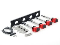 ES#2713432 - 002598ECS12AKT - 2.0T Coil Pack Conversion Kit - Stage 2 - Includes anodized black conversion plate -w- red 2.0T coils and silver hold down kit - Assembled By ECS - Audi Volkswagen