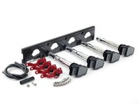 ES#2713434 - 002598ECS15AKT - 2.0T Coil Pack Conversion Kit - Stage 2 - Includes anodized black conversion plate -w- black 2.0T coils and red hold down kit - Assembled By ECS - Audi Volkswagen