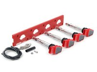 ES#2713443 - 002598ECS17AKT - 2.0T Coil Pack Conversion Kit - Stage 1 - Includes wrinkle red conversion plate -w- red 2.0T coils - Assembled By ECS - Audi Volkswagen
