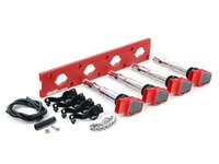 ES#2713444 - 002598ECS18AKT - 2.0T Coil Pack Conversion Kit - Stage 2 - Includes wrinkle red conversion plate -w- red 2.0T coils and black hold down kit - Assembled By ECS - Audi Volkswagen