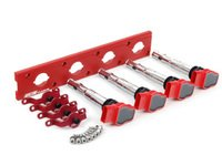 ES#2713407 - 002598ECS19KT - 2.0T Coil Pack Conversion Kit - Stage 2 - Includes wrinkle red conversion plate -w- red 2.0T coils and red hold down kit - ECS - Audi Volkswagen