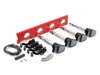 ES#2713438 - 002598ECS22AKT - 2.0T Coil Pack Conversion Kit - Stage 2 - Includes wrinkle red conversion plate -w- black 2.0T coils and black hold down kit - Assembled By ECS - Audi Volkswagen