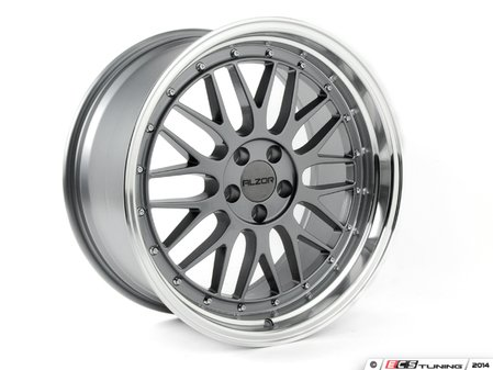 "ES#2739909 - 020-24KT2 - 18"" Style 020 Wheels - Set Of Four - 18""x9"" ET30 5x112. 57.1CB Gunmetal with Polished Lip - Alzor - Audi BMW Volkswagen"