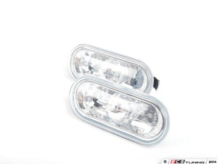 ES#10062 - 1j0998117 - Smooth Style Side Marker Set - Clear - Fender-mounted side markers - Volkswagen Zubehor - Volkswagen