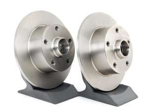 ES#518101 - 8D0615601BKT4 - Rear Brake Rotors - Pair (245x10) - Restore the stopping power in your vehicle - Zimmermann - Audi