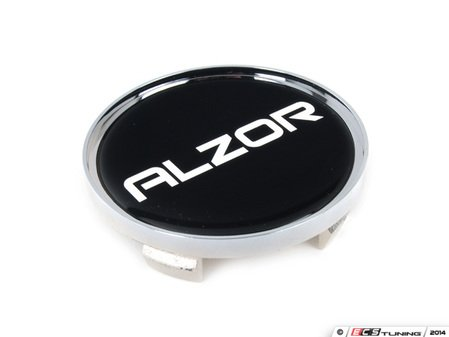 ES#2719080 - 628CAP2 - Center Cap - Silver/Black - Priced Each - For the Alzor Style 628 wheels. 62.9mm OD / 57mm ID - Alzor - Audi Volkswagen