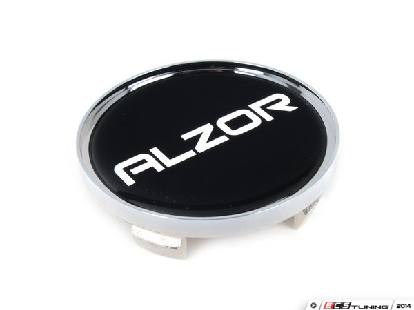 ES#2719080 - 628CAP2 - Center Cap - Silver/Black - Priced Each - For the Alzor Style 628 wheels. 62.9mm - Alzor - Audi Volkswagen