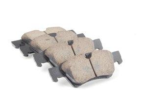 ES#2719266 - 0044205220 - Rear Euro Ceramic Brake Pad Set - Includes brake pad wear sensors - Akebono - Mercedes Benz