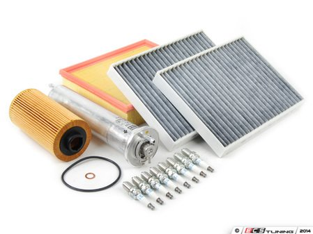 """ES#2723098 - E39IN2-1dKT - """"Dry"""" Inspection II Service Kit - Includes spark plugs and all filters - add your preferred fluids for a complete service - Assembled By ECS - BMW"""
