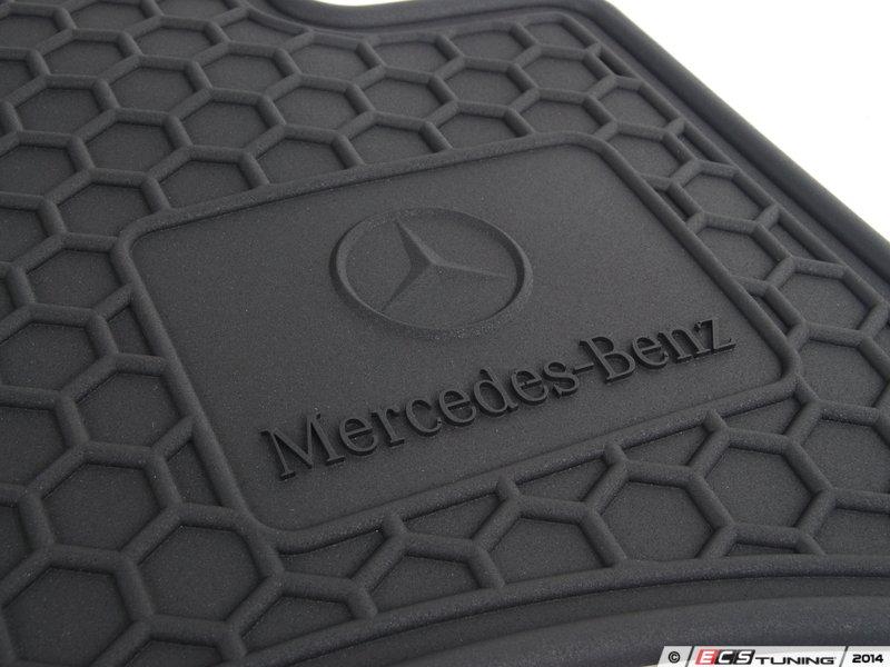 Mercedes Benz Rubber Floor Mats Logo