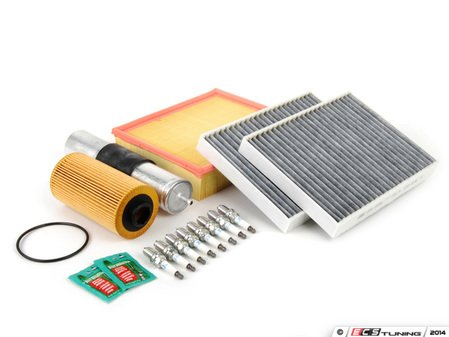 """ES#2723100 - E39IN2-2dKT - """"Dry"""" Inspection II Service Kit - Includes spark plugs and all filters - add your preferred fluids for a complete service - Assembled By ECS - BMW"""