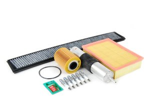 """ES#2722928 - E46M3SV2KT3 -  """"Dry"""" Inspection II Kit - Includes spark plugs and all filters - add your preferred fluids for a complete service - Assembled By ECS -"""