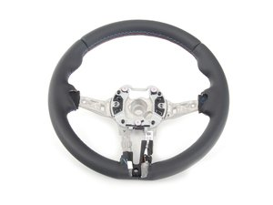ES#2599086 - 32307846035 - M Sport steering wheel - With Tri M Color stitching  - Genuine BMW - BMW