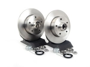 ES#1049 - ECS4-5RCONVSTG1 - Complete 4-5 Lug Conversion Kit - Plain Rotors - Rear - 226mm plain 5-lug rotors, new bearings & seals - Assembled By ECS - Volkswagen