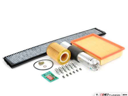 """ES#2722971 - E46IN2ENLV - """"Dry"""" Inspection II Service Kit - Includes spark plugs and all filters - add your preferred fluids for a complete service - Genuine BMW - BMW"""