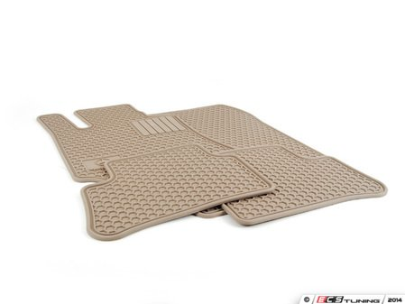ES#1828019 - Q6680712 - All-Season Floor Mats - Beige - (NO LONGER AVAILABLE) - Set of four with 'Mercedes-Benz' and Star logo - Genuine Mercedes Benz -