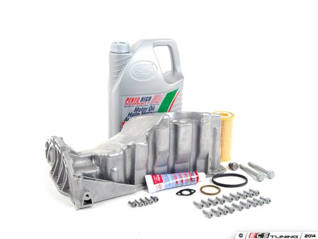 ES#2602514 - 06B103601CGKT - Oil Pan Replacement Kit - Everything required to replace your leaking pan, including the oil change - Assembled By ECS - Audi