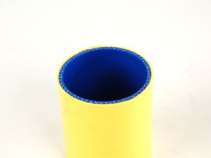 """ES#1844017 - SCH57-YEL - Straight Coupling 2 1/4"""" Bore 3"""" Long - Yellow - Samco -"""
