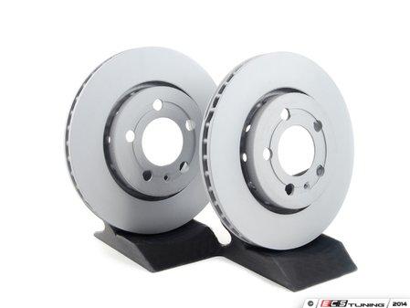 ES#483 - 8N0615601BKT1 -   Rear Brake Rotors - Pair (256x22) - Quality aftermarket brake rotors  - Zimmermann - Volkswagen
