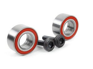 ES#2623053 - 4D0407625EKT - Wheel Bearing Kit - Pair (82mm) - Comes with the wheel bearings and axle bolts, fits left and right side - Assembled By ECS - Audi