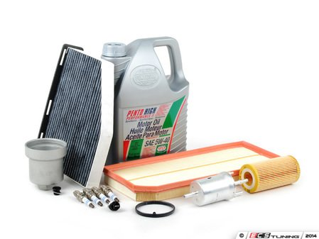 ES#2723758 - 06D115562KT6 - 40K Service Kit With Magnetic Drain Plug & Aluminum Oil Filter Housing - Everything you need to perform the recommended 40k mile service & upgrade your oil filter housing and drain plug - Assembled By ECS - Audi