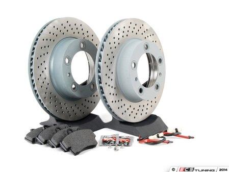 ES#2594688 - 98735140101FOEKT - Front Brake Service Kit - Featuring Sebro rotors and Textar brake pads - Assembled By ECS - Porsche