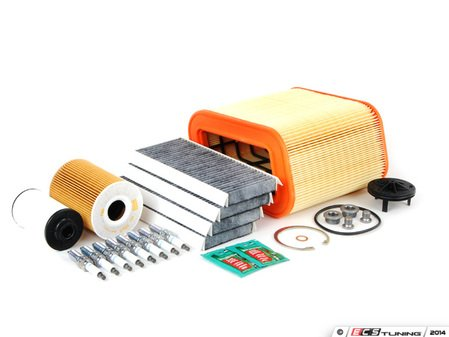 """ES#2723152 - E965ISP2dFMKT - """"Dry"""" Inspection II Service Kit - Includes spark plugs and all filters - add your preferred fluids for a complete service - Assembled By ECS - BMW"""