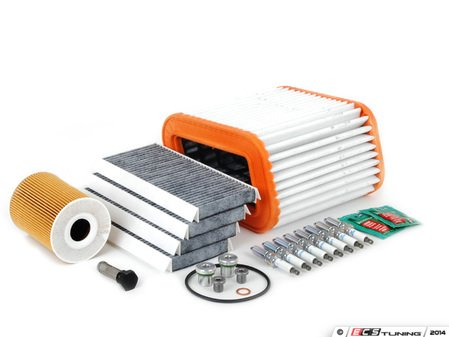 """ES#2723146 - E965INSP2dBKT - """"Dry"""" Inspection II Service Kit - Includes spark plugs and all filters - add your preferred fluids for a complete service - Assembled By ECS - BMW"""