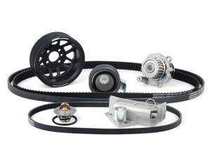 ES#6446 - AUGTBKV2BLK - ECS Tuning Ultimate 1.8T Timing Belt Kit- With Black ECS Crank Pulley - ECS popular ultimate timing belt kit with a ECS lightweight crank pulley. Buy together & save  - Assembled By ECS -