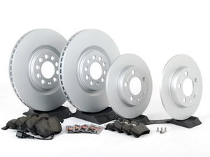 ES#2678607 - 8L0615301KT3 - Front & Rear Brake Service Kit - Featuring Meyle rotors and Vaico semi metallic pads - Assembled By ECS - Audi