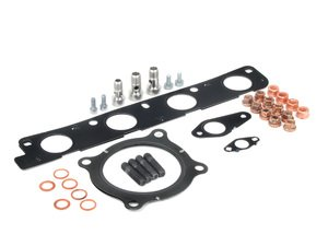 ES#2587494 - 8E0253115DKT - Turbocharger Installation Kit - Includes all gaskets and hardware - Assembled By ECS - Audi