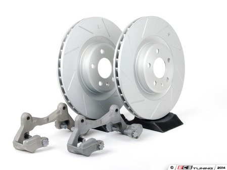 ES#2215371 - 8K06983BBK - Front Big Brake Kit - Stage 1 - Slotted Rotors (345x30) - Upgrade to the stopping power of the Audi S4/5. Features ECS GEOMET brake rotors. - Assembled By ECS - Audi