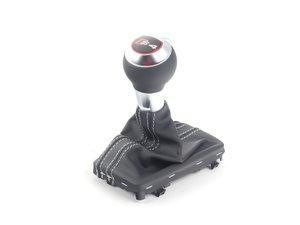 ES#2723505 - 8K1713139TIWX - Automatic Shift Knob - Leather - Soul (Black) / Titanium (Grey) - With 'S' emblem - Genuine Volkswagen Audi - Audi