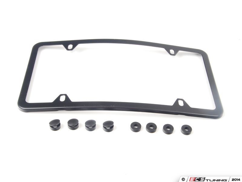 es1829267 q6880104 curved slimline front license plate frame black powder coat