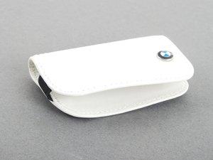 ES#2584690 - 80232336958 - BMW Leather Key Case - white  - Covers the late model BMW key fob - Genuine BMW - BMW