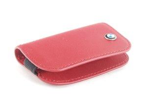 ES#2584691 - 80232336959 - BMW Leather Key Case - red  - Covers the late model BMW key fob - Genuine BMW - BMW
