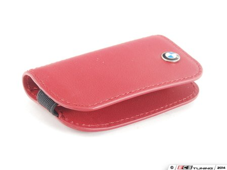 ES#2584691 - 80232336959 - BMW Leather Key Case - red  - Covers the late model BMW key fob - Genuine BMW - BMW
