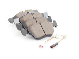 ES#2622986 - 0044200720 - Front Euro Ceramic Brake Pad Set - Includes new brake pad wear sensors - Akebono - Mercedes Benz