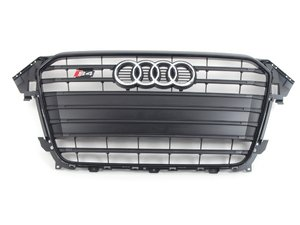 ES#2696925 - 8K0853651PCKA - S4 Grille Assembly - Black With satin black Trim - Clean up or change your look - Genuine Volkswagen Audi - Audi