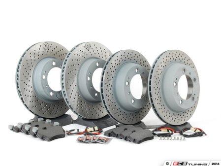 ES#2594741 - 98735240301OEKT - Front & Rear Brake Service Kit - Featuring Sebro rotors and Textar brake pads - Assembled By ECS - Porsche
