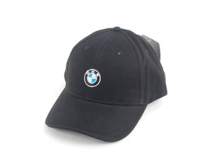 ES#2080851 - 80162208705 - BMW Emblem / Roundel Hat - Black - Show your BMW pride wherever you go with a comfortable cap - Genuine BMW - BMW