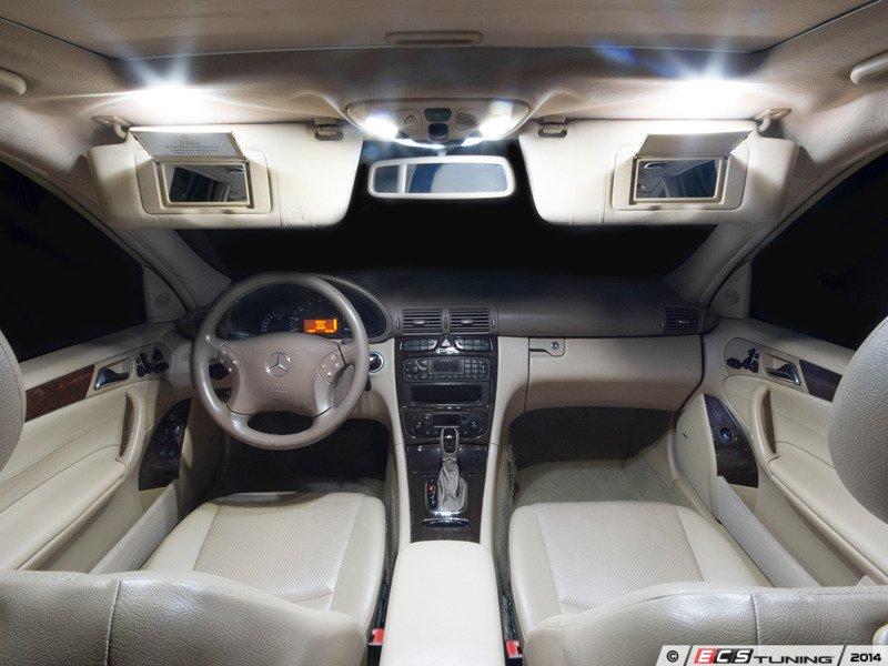 Ecs news mercedes benz s203 c class wagon ziza led for Mercedes benz upholstery kits